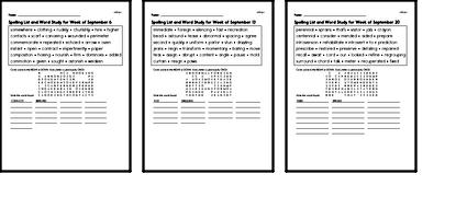 Word Study Challenge Books with Math for September