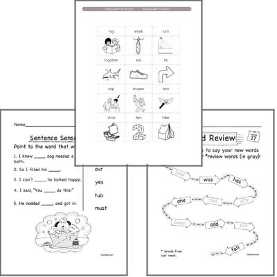 January Spelling<BR>Word Study Workbook<BR>for Kindergarteners