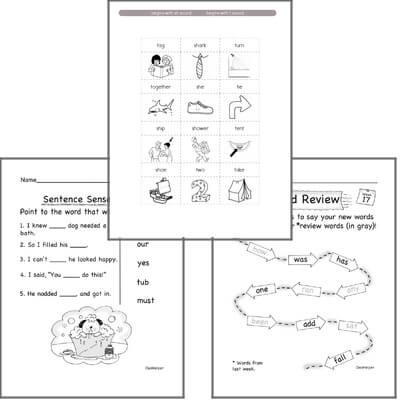 kindergarten spelling vocabulary and word study workbooks for january. Black Bedroom Furniture Sets. Home Design Ideas