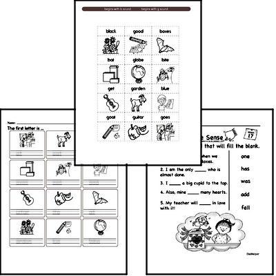 January Spelling<BR>Word Study Workbook<BR>for Kindergarteners