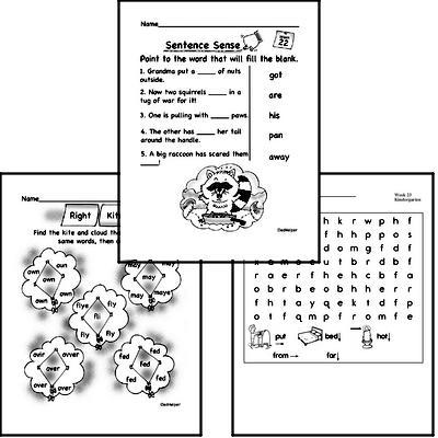 February Spelling<BR>Word Study Workbook<BR>for Kindergarteners