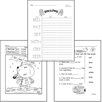 March Spelling<BR>Word Study Workbook<BR>for Kindergarteners