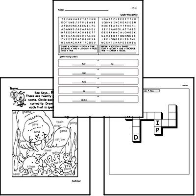 March Spelling<BR>Word Study Workbook<BR>for First Graders