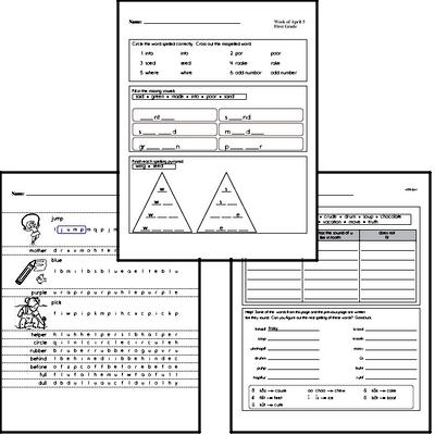 April Spelling<BR>Word Study Workbook<BR>for First Graders