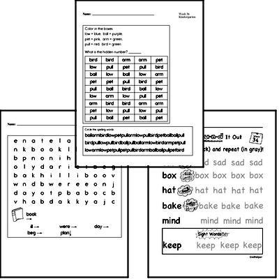 May Spelling<BR>Word Study Workbook<BR>for Kindergarteners