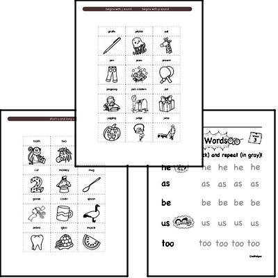 June Spelling<BR>Word Study Workbook<BR>for Kindergarteners