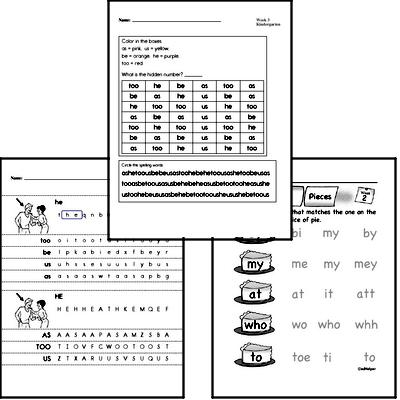 June Spelling<BR>Word Study Workbook<BR>for Kindergarteners