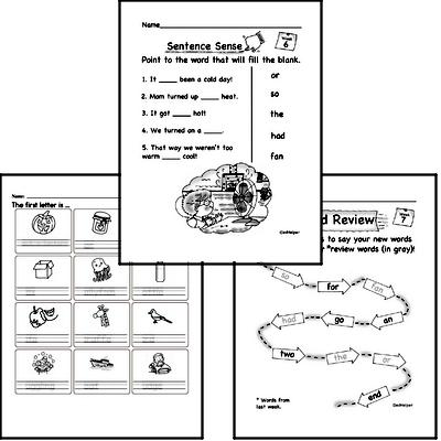 July Spelling<BR>Word Study Workbook<BR>for Kindergarteners