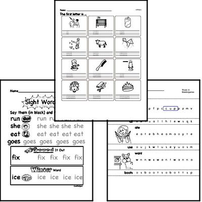 August Spelling<BR>Word Study Workbook<BR>for Kindergarteners