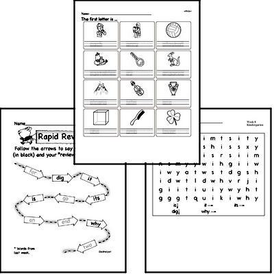 October Spelling<BR>Word Study Workbook<BR>for Kindergarteners