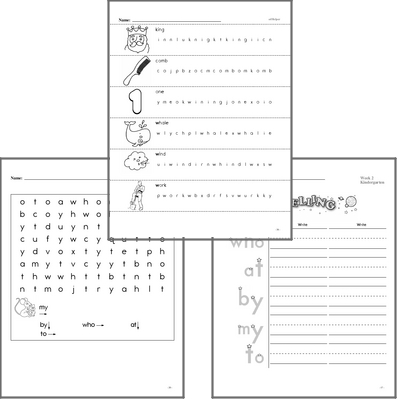 kindergarten worksheets  edhelpercom writing letters and sight words