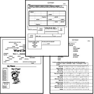 High School Spelling List and Workbook (November book #1)<BR>Week of November 4