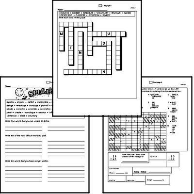 Middle School Spelling List and Workbook (December book #1)<BR>Week of December 2
