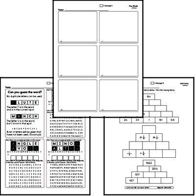 Fifth Grade Spelling List and Workbook (December book #4)<BR>Week of December 24