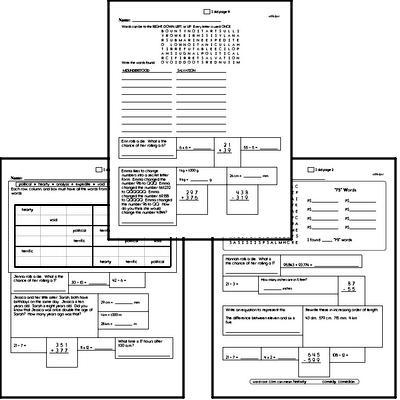 Middle School Spelling List and Workbook (December book #4)<BR>Week of December 23