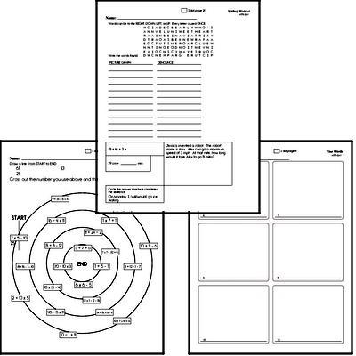 Fifth Grade Spelling List and Workbook (December book #5)<BR>Week of December 31
