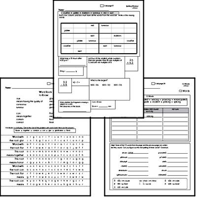 Fifth Grade Spelling List and Workbook (February book #2)<BR>Week of February 11