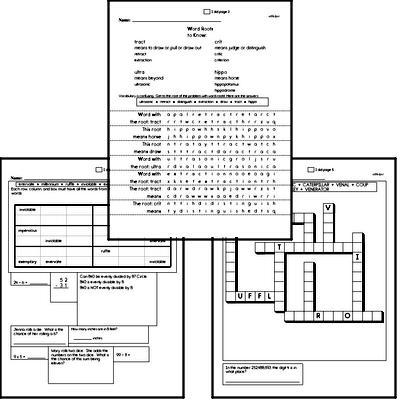 High School Spelling List and Workbook (February book #4)<BR>Week of February 25