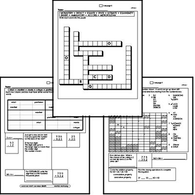 High School Spelling List and Workbook (May book #4)<BR>Week of May 25