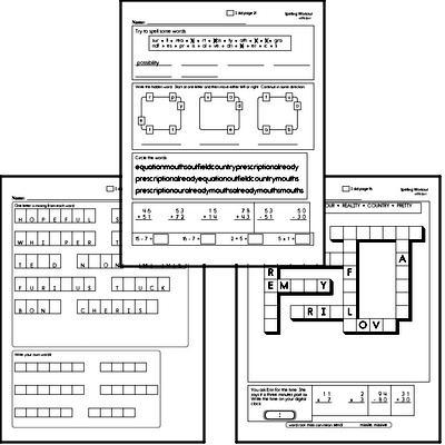 Third Grade Spelling List and Workbook (June book #1)<BR>Week of June 3