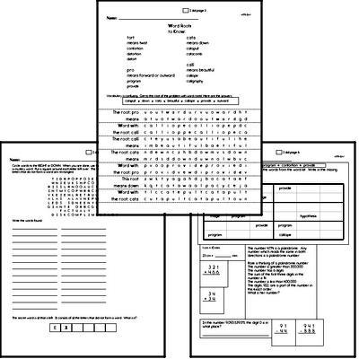 High School Spelling List and Workbook (June book #3)<BR>Week of June 21