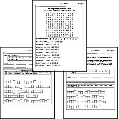 Second Grade Spelling List and Workbook (June book #4)<BR>Week of June 24