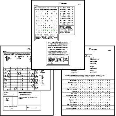 High School Spelling List and Workbook (June book #4)<BR>Week of June 28