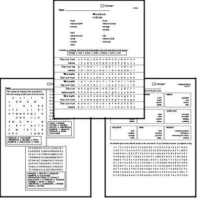 Middle School Spelling List and Workbook (July book #2)<BR>Week of July 8