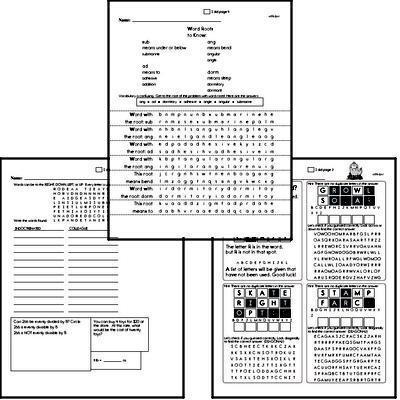 Middle School Spelling List and Workbook (July book #3)<BR>Week of July 15