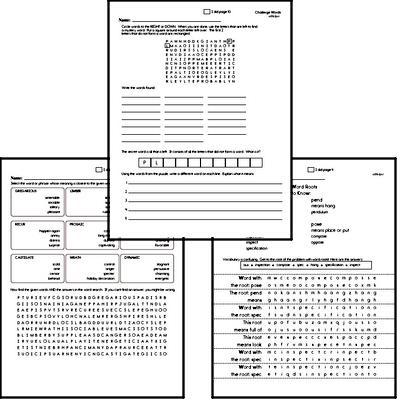 Middle School Spelling List and Workbook (July book #4)<BR>Week of July 22