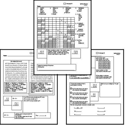 Fifth Grade Spelling List and Workbook (August book #1)<BR>Week of August 5