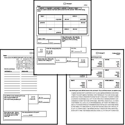High School Spelling List and Workbook (August book #1)<BR>Week of August 3