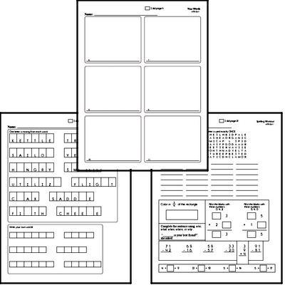 Third Grade Spelling List and Workbook (September book #4)<BR>Week of September 23