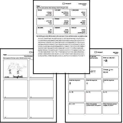 Fifth Grade Spelling List and Workbook (August book #2)<BR>Week of August 12