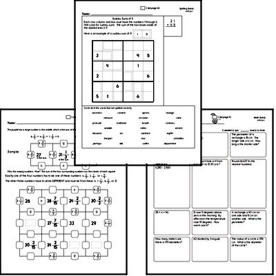 Fifth Grade Spelling List and Workbook (September book #5)<BR>Week of September 30