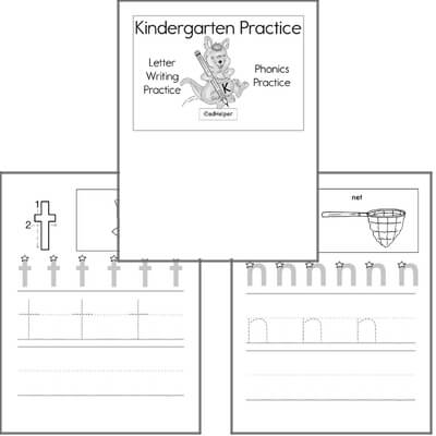 September Letter Practice Book #1  for Kindergarten Kids