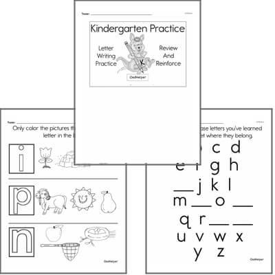 Kindergarten Letter Book #1c
