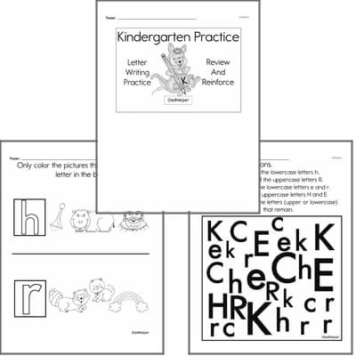 Letter Book #2c  Practice for Kindergarten Kids; Letters