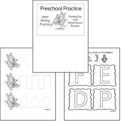Letter Book #1a  Practice for Preschool Kids; Letters