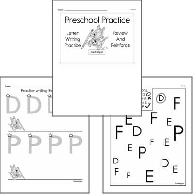 Letter Book #1c with Graphics for Preschool Kids; Letters