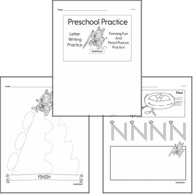 Letter Book #2a  Practice for Preschool Kids; Letters