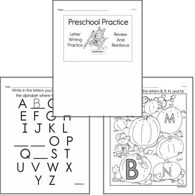 Letter Book #2c with Graphics for Preschool Kids; Letters