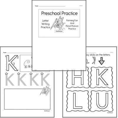 Letter Book #3a  Practice for Preschool Kids; Letters
