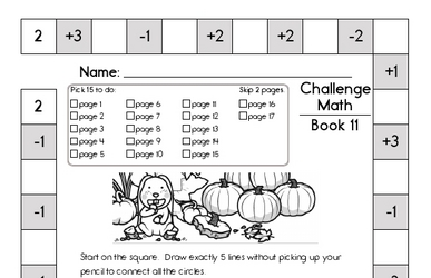 Weekly Math Worksheets for November 11