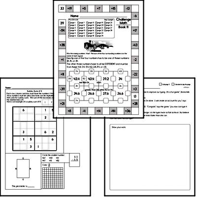 Weekly Math Worksheets for November 16