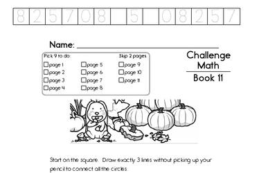 Weekly Math Worksheets for November 11