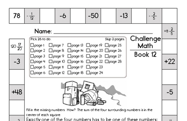 Weekly Math Worksheets for November 18