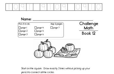 Weekly Math Worksheets for November 18