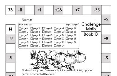 Weekly Math Worksheets for November 25