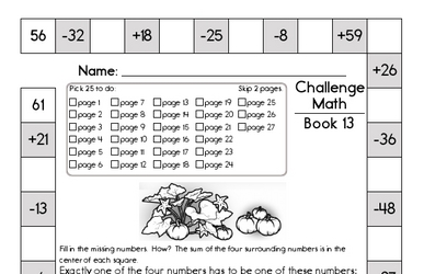Weekly Math Worksheets for December 1